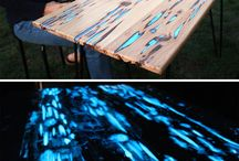 Glow in the dark table tops