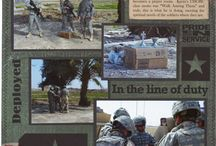 Hubby's army scrapbook ideas / by Amanda