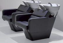Mobilier pour salon de coiffure / Mobilier haut de gamme pour équiper et agencer votre salon de coiffure à moindre prix.