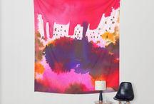 Wall tapestries by Ninola