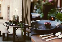 Killer Tablesettings / great ideas for weddings and holiday table setting