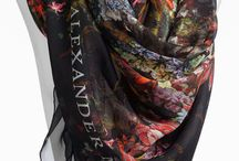Printed Scarves & Stoles / Inspirations for Customisable Printed Scarves in Wool, Silk, Modal