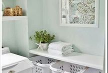 Home - laundry room / Inspiration for an organized clean laundry room.