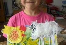 """co s dětmi .... výtvarné a ruční práce / jak zabavit dětičky :) ,když je venku na """"na houby"""""""