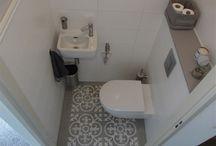 kleine landelijke badkamer