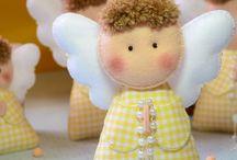 muñecos de feltro