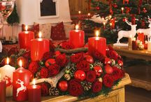 Christmas Party with candles / Spend a warm and homey Christmas Night in the light of candles.