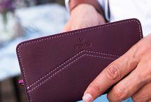 Phone Case Wallet - Cüzdan&Telefon Kılıfı / Leather & wool felt phone case wallet created by Humla.co