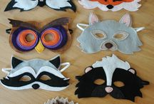 Animal masks and hats
