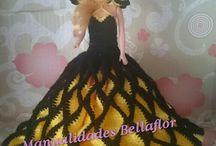 Mis muñecas con vestidos de crochet