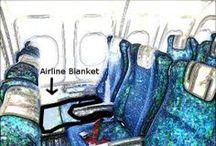 Esme on a plane