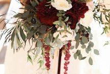 Burgundy and gold wedding