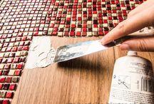 mesa con tejuelas