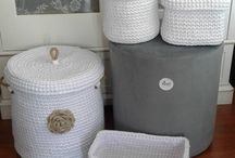 Crochet baskets / Crochet baskets from T-shirts