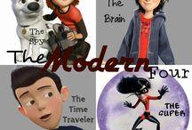 The Modern/Futuristic Four / Plus friends ;)