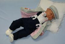 Garniturek dla niemowlaka / Eleganckie ubranko do chrztu