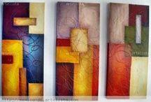 cuadros abstractos texturado