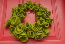 felt wreaths