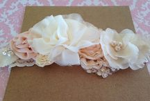 Christening and Flower Girls Headbands / Barefoot sandals / Handmade Flower Headbands and Foot Accessories for Babies. Perfect for Christening and Special Occasions !