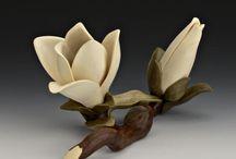 木彫(植物)