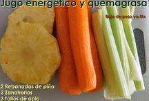 jugos energéticos y quitagrasas