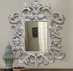 Mirrors With Carving Frame / Mirror with carved wood frame as shown in this picture, this Frame made of mahogany solid wood with hand crafted manufactured.