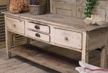 Swedish antique counter table
