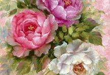Kwiaty i motywy roślinne / Grafika, obraz lub fotografia