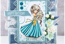 Layered Cards - Lizland / Cards with several layers of paper and various embellishments