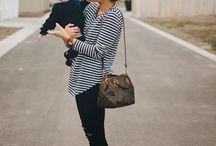 Стильные мамы с детками