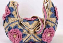Bolsos - carteras a crochet - palillos