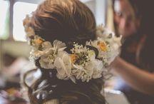 Tocados de novia / Tocados hechos con flores artesanales