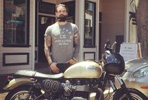 Drop-Ins / Mikey from Ashbury Park Denim stopped by the shop with his sweet Triumph.