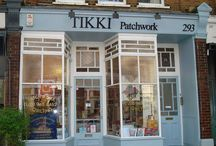 TIKKI Patchwork Shop / Tikki is a specialist quilt fabric shop in London, England Are are in the leafy neighbourhood of Kew Gardens in West London, close to the Kew Gardens underground (tube) stop. Directions can be found on our web site at Tikkilondon.com