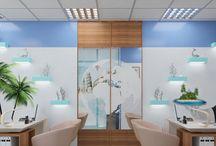 Дизайн интерьера офиса туристической фирмы в современном стиле / Пожелания заказчика: оформить дизайн интерьера офиса туристической фирмы в морской тематике и современном стиле.