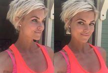 Short blonde pixie