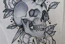 skull tattoo e desenhos