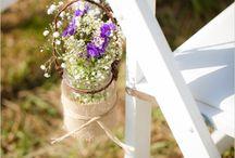 fiori nelle sedie