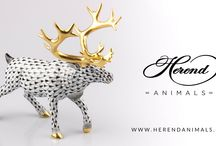 Deers of Herend / As the traditional prey of the European hunters, the Deers are well represented in Herend's product line.
