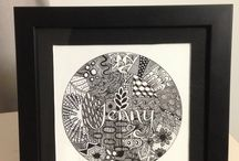 My Art / Zentangles, Drawings & whatever comes along.