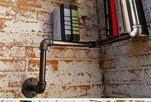 Industrial design shelves