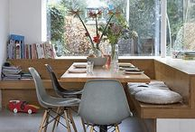 Bench dining space saver idea