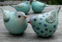 Keramische vogels