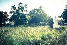 romantic wedding photography with sun flair