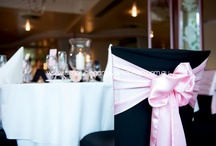 Chair Covers & Bows / Chair covers create a perfect white foundation for which brides can enhance their ideal decor  scheme.