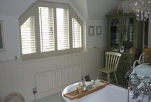 Vintage style rooms with Shutters