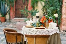 Weddings: Farm & Forest / features ideas for elegant but rustic weddings. This wedding couple likes things organic, beautiful, natural. The key to getting the look right is to pop in high end items (like chandeliers or silver candlesticks) someplace unexpected,  like in an authentic old wood barn or a field.