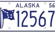 Alaska License Plates / License plates were first issued to all motor vehicles in 1921 in Alaska Territory.  Prior to 1921, the Territory of Alaska issued license plates to for-hire vehicles only.  Alaska became a State in 1959 so all license plates issued prior to 1959 were issued by the Territory of Alaska.
