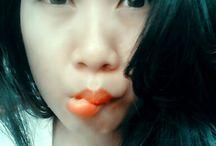 my face....