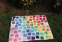 rainbow charm quilt / by CraftyHourMom